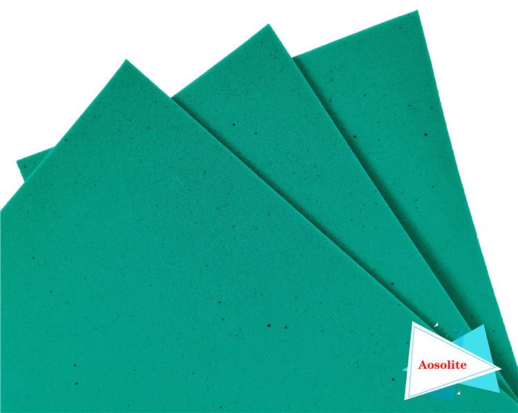可定制特種海綿歐索萊海綿透氣除菌奧索萊PU海綿鞋墊原材料